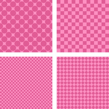 Pink Simple Geometric Shape Wallpaper Set