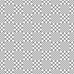 Seamless zig zag line grid pattern background