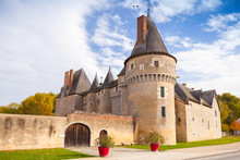 Old French Castle In Loire Val...