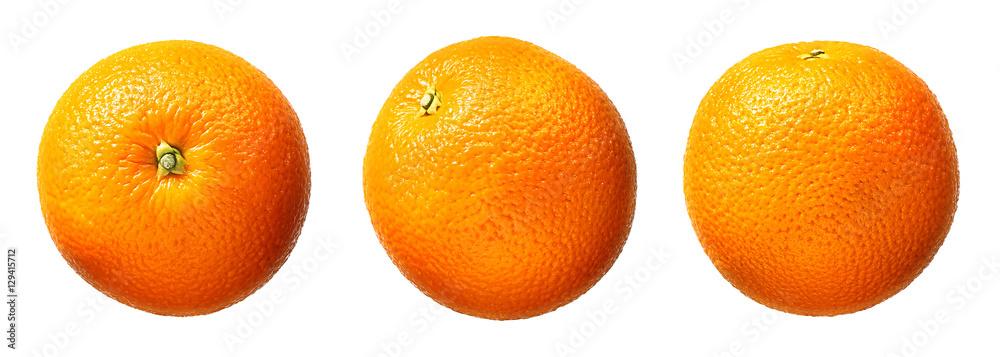 Fototapety, obrazy: Fresh orange fruit isolated on white background