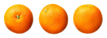 Fresh Orange Fruit Isolated On...