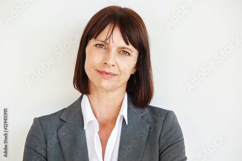 Fotografia  Close up portrait of serious business woman