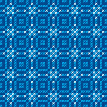 Cross Stitch Vector Ornament. Traditional Embroidery Seamless Pa