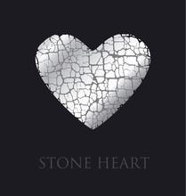 Concept Abstract Broken Heart Vector Illustration. Modern Style