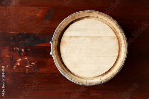 Oak Barrel Top View