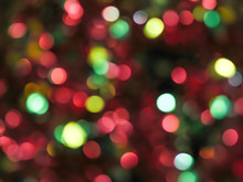 Christmas Light Bokeh Background.