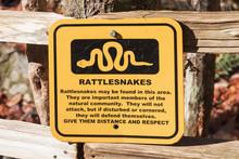 Outdoor Rattlesnake Warning Sign