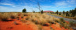 canvas print picture - Australia Landscape : Uluru Road to Red rock of Alice Spring, Yulara, Mutitjulu