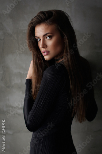 Juliste  Young female brunette model