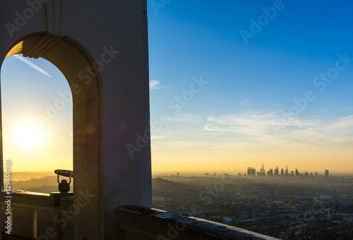 Griffith Observatory and LA 2 Canvas Print