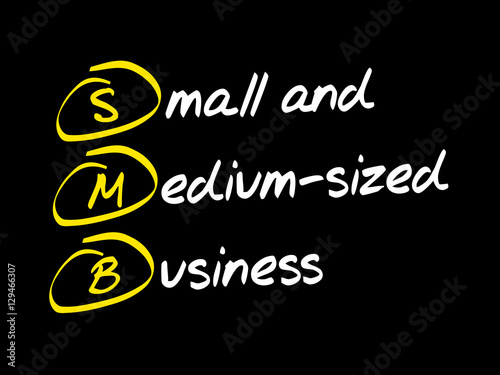 Fotografie, Obraz  SMB - Small and Medium-Sized Business, acronym business concept