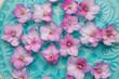 Beautiful flowers on water