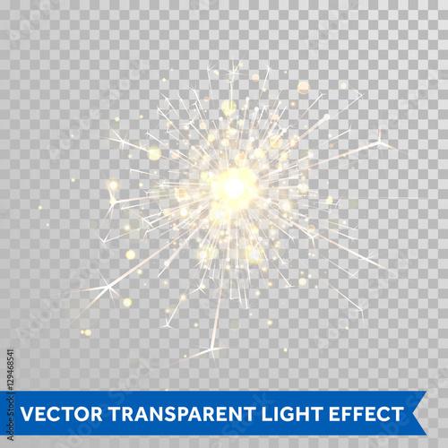 Obraz Sparkler light. Firework magic glitter effect - fototapety do salonu