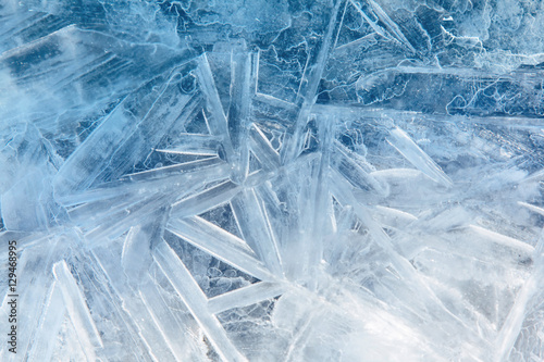 Photo  Ice blue background