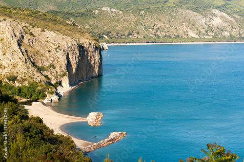 Strand von Capo Palinuro auf dem Cilento Canvas Print