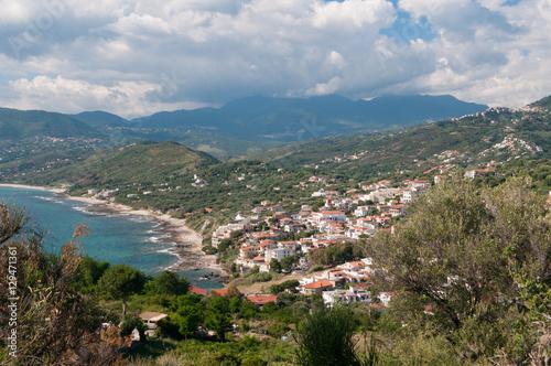 Photo Landschaft Capo Palinuro Wolken verhangen