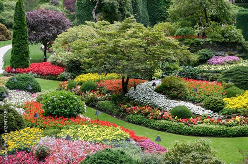 Aluminium Prints Garden Butchart Gardens in Brentwwod Bay Vancouver Island