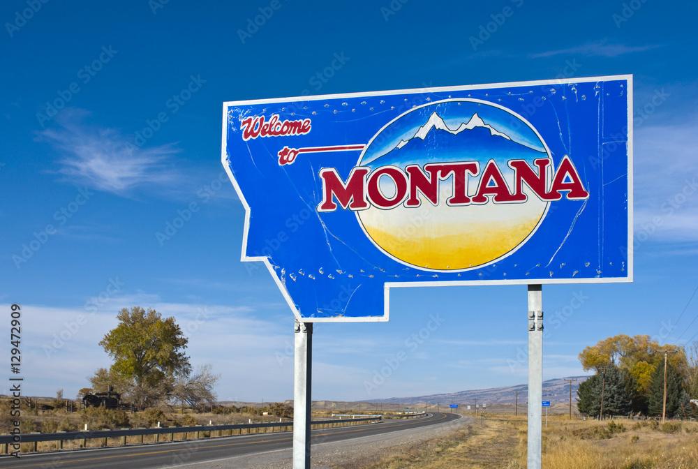 Fototapety, obrazy: Welcome to Montana