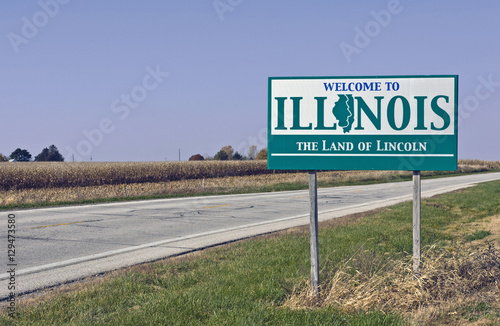 Fototapeta Welcome to Illinois