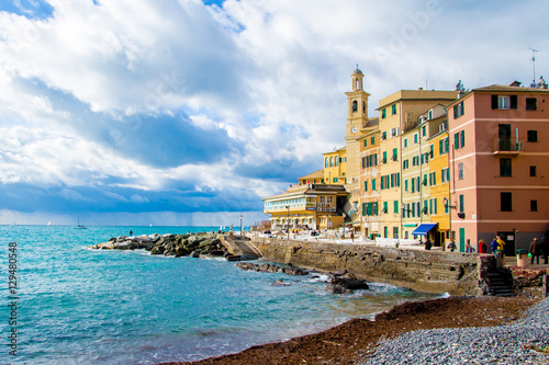 Foto op Canvas Europa Boccadasse, a district of Genoa in Italy