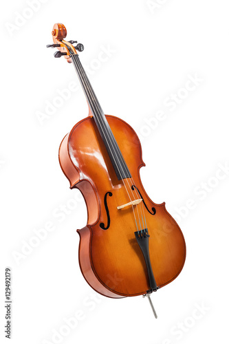 Foto cello isolated on wihte