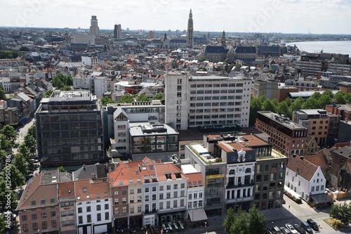 Tuinposter Antwerpen Ausblick auf Antwerpen
