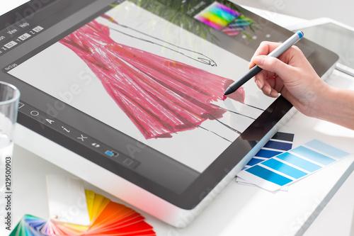 Fotografija  Graphic designer at work. Color samples.