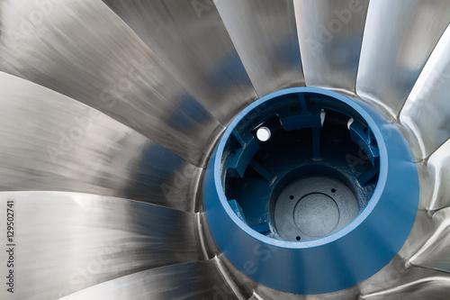 Photo  Shiny Francis Hydro Turbine