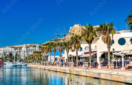 Promenade in the Marina of Alicante, Spain