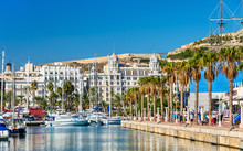 Promenade In The Marina Of Alicante, Spain