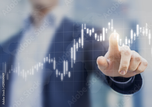 Fotografía  Financial graph showing price increase, stock market, abstract business concept
