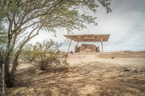 Fotografie, Obraz  Casa Grande Ruins National Monument of the Pre-columbian Hohokam