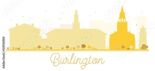 Fototapeta  Burlington City skyline golden silhouette.