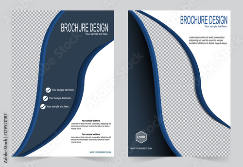 Poster Abstract wave Brochure template, Flyer design blue template