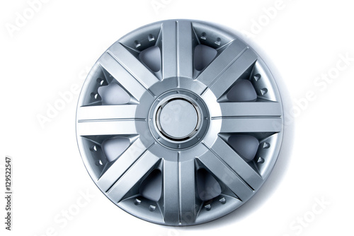 Fényképezés Plastic hubcap isolated on white background
