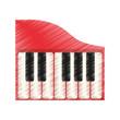 piano music instrument icon vector illustration graphic design