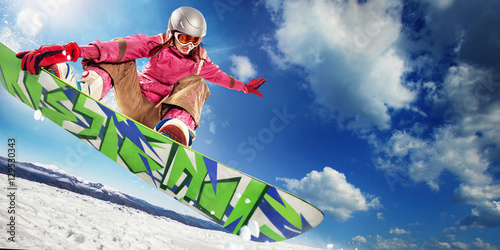 Recess Fitting Winter sports Extreme winter on snowboard