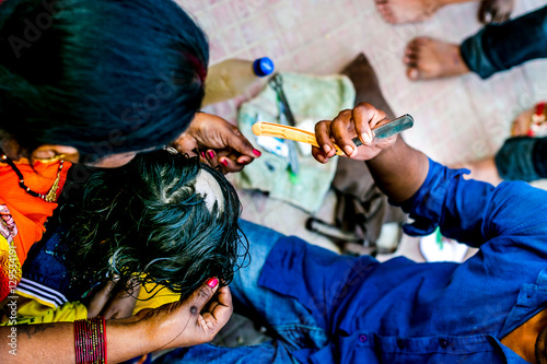 Mundan or removal of birth hairs in Hinduism is praised as actual birth and is a huge cultural event