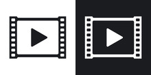 Vector Video Icon. Two-tone Ve...