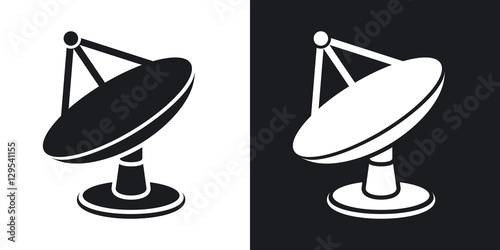 Fotografía  Vector satellite dish icon