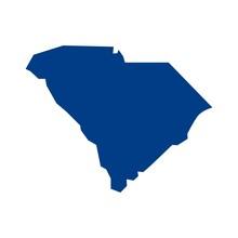 South Carolina Map. Logo Vector.