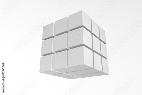 Photo  3d illustration magic cube