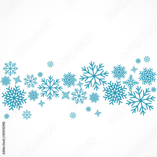 Obraz flocon de neige,vecteur - fototapety do salonu