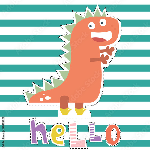 Photo  Dinosaur character design for baby fashion
