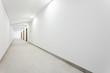 canvas print picture - Long white clean hallway