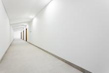 Long White Clean Hallway