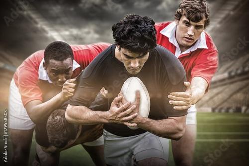 Photo  Composite image of rugby stadium