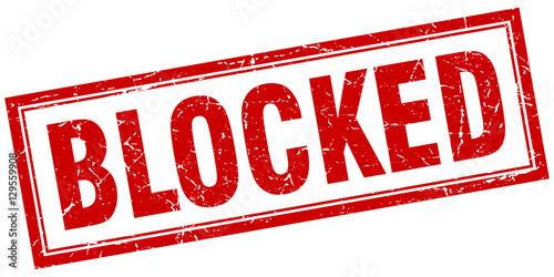 Foto blocked square stamp