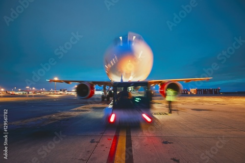Fotografie, Tablou  Airport in the night