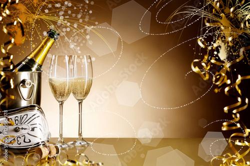 Photo  Luxury New Years Eve celebration background